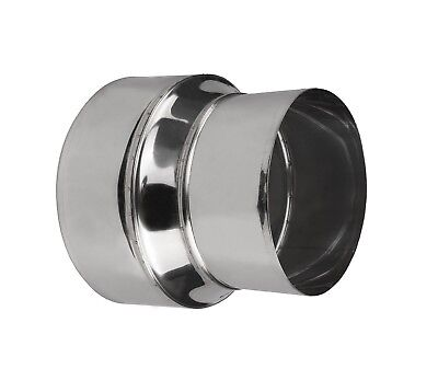 Stainless Steel Stove Pipe Reducer Tubing Connector Chimney Flue Liner Adaptor