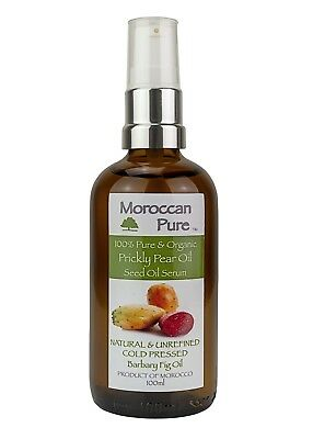 Moroccan Pure Cold Pressed Pickly Pear Seed Oil Skin Face Anti Aging 100ml