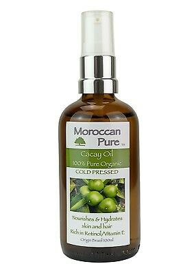 Moroccan Pure Cold Pressed Brazilian Cacay Oil Retinol Face Anti Aging 100ml