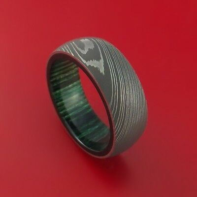 HUNTEX Unique Custom Damascus Steel Ring Size 9 Mens Jewellery Gift