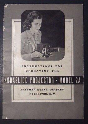 Vintage 1946 Kodaslide Projector - Model 2A Operating Instructions - Kodak