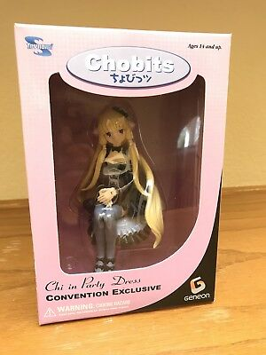 Chobits Chi In A Party Dress Figure Convention Exclusive Geneon Toynami 2005 NEW