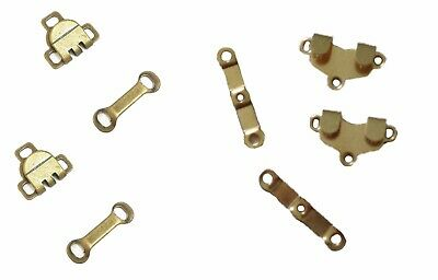 2 Sets of sew on trousers skirts hooks and bars eyes fasteners in gold colour