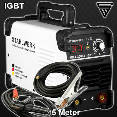 Welder STAHLWERK ARC 200 ST IGBT - STICK MMA Welding with 200 Ampere