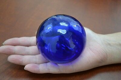 """Cobalt Blue Reproduction Blown Glass Float Fishing Buoy Ball 3"""" #sf-454"""