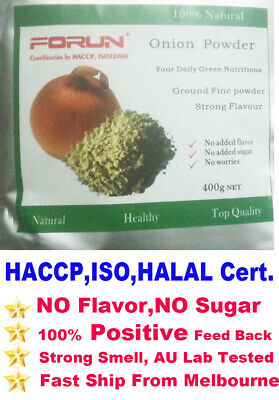 FORUN Natural Onion Powder 1.05 Kg(350g*3bags)-HACCP,ISO22000 Certified