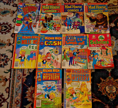 10 Comic Vintage Bronze Age  Silver Age Archie and Richie Rich Mad House
