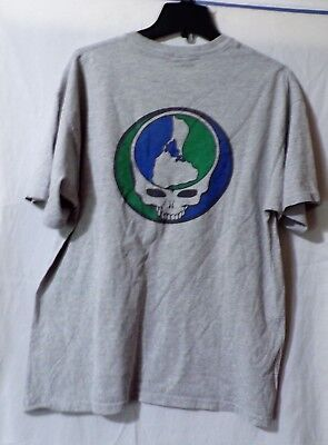 Grateful Dead Earth Day Skull Vintage T-Shirt XL Shirt  Extra Large Blue Green
