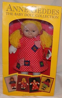 Anne Geddes The Baby Doll NIB Toy Blond Girl Polka Dot Dress Stephanie