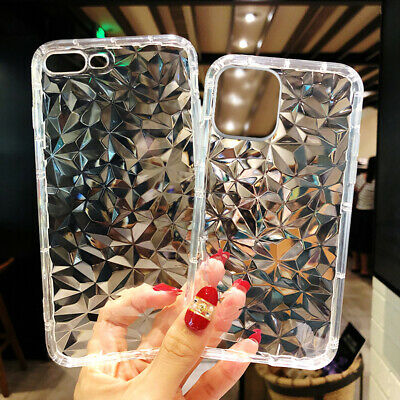Hybrid Shockproof Clear Diamond Soft Silicone Case Cover For iPhone 7 8 XS Max