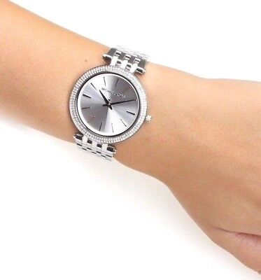 4df8a4263e50 MICHAEL KORS SILVERTONE Darci Watch -  129.95