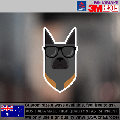 Belgian Malinois Hipster Funny Cute Animals Dog Decal Sticker 100 mm x 55 mm