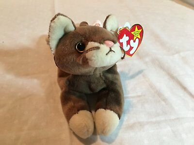 d8018fb337c 1997 RETIRED- RARE WITH ERRORS Pounce Beanie Baby -  159.99