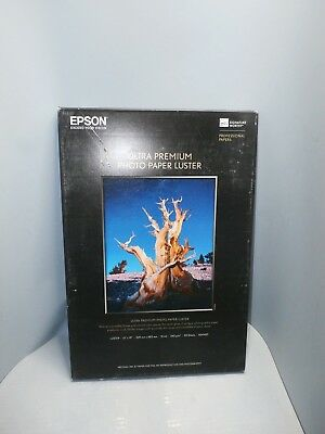 "EPSON 13""x19""ULTRA PREMIUM PHOTO PAPER LUSTER - S041407 - NEW SEALED  50 Ct."