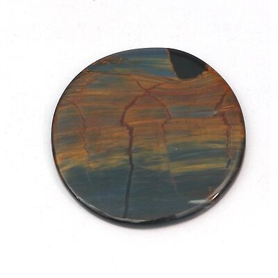 1 Pcs 86.65crt Round Cabochon Natural Tower Desine Pietersite Loose Gemstone