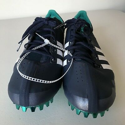 new product 7f15a da5f7 Adidas Adizero Prime Finesse Mens Size 11 Track Spikes Navy Blue Shoes