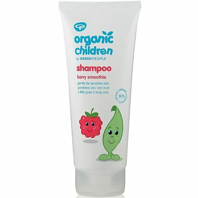 Green People Childrens Berry Smoothie Shampoo [200ml]  (3 Pack)