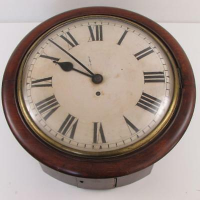 ANTIQUE FUSEE DIAL CLOCK convex dial & glass EARLY MOVEMENT restore