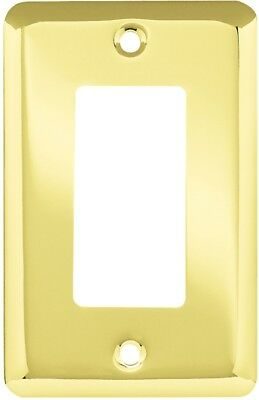 Style Selections Stamped Round 1-Gang Polished Brass Single Decorator Wall Plate