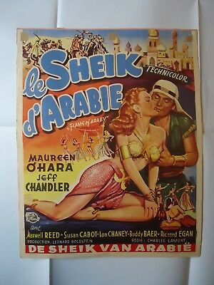 FLAME OF ARABY/MAUREEN O'HARA+JEFF CHANDLER/  U14LM/belgian poster