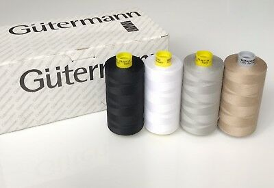 Gutermann Mara 100 sewing thread 1 x 1000 m. 4 different colors. New.