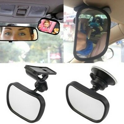 Baby Safety Car Mirror with Clip & Suction Cup Rearview Infant Toddler Mirror AU
