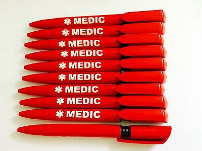 20 Quality Pens Branded MEDIC with Black Ink-Paramedic,Ambulance First Responder