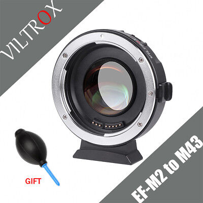 VILTROX EF-M2 0.71x Speed Booster Adapter for Canon EF Lens to M43 Camera