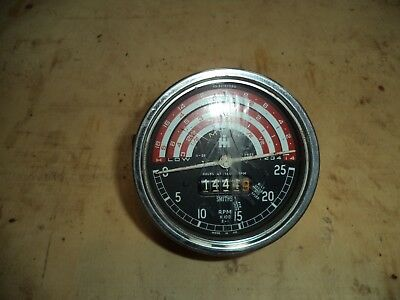 Original Internation Tractor Hour Clock Smiths Tachometer Spare Parts Cab Dash