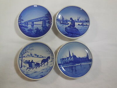 Set of 4 Denmark Mini Collector Plates 1 Royal Copenhagen