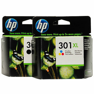 Original HP 301XL Combo Pack Genuine Black TriColour Twin Pack 301Combo (301XLB)