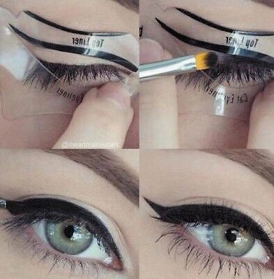 eyeliner stencil smoky eye trucco make up eye liner linea perfetta occhi eye