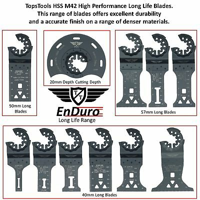 Starlock Bi-metal Blades For Bosch Fein Plus Max AutoClic Multitools TopsTools