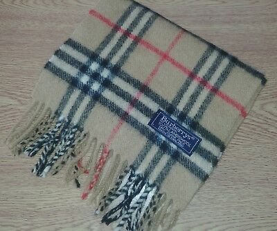 Childrens Burberry London Beige Nova Check Scarf 100% Lambswool - made in UK