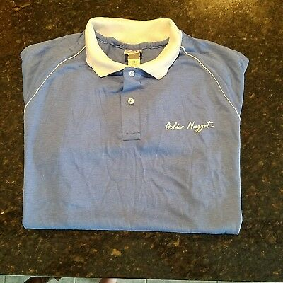 Vintage Golden Nugget Casino Polo Poker Shirt w/ Tag NOS size L