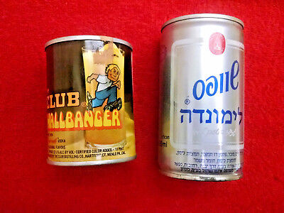 Schweppes lemonade can (1990's) & The Club Wallbanger can 1/2 pint-both empty-
