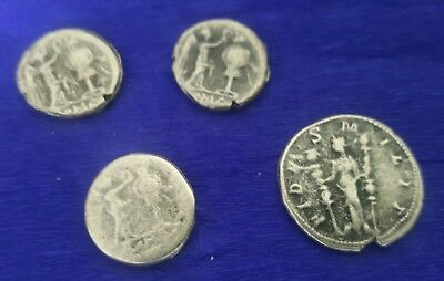 4 x Unresearched Roman Medieval Silver Coins