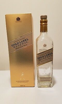 Johnnie Walker Gold Label Reserve Scotch Whiskey EMPTY Bottle w/ Box   - 750 ml