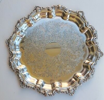 falstaff silver plated silver vintage drinks tray etched antique silverware