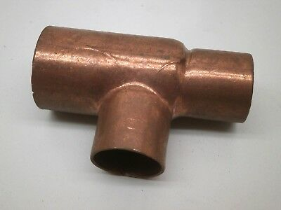 "Copper Pipe Reducing Slip Tee Fitting 1"" x 3/4"" x 3/4"" , C x C x C"