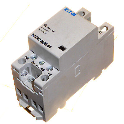 25 Amp Contactor 230V coil 4 Pole Normally Closed DIN Rail Mount Eaton Z-SCH230