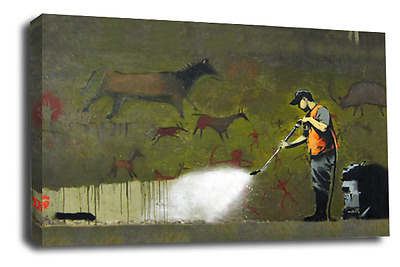 BANKSY Art Picture Graffiti Remover Peace Love Hope Abstract Canvas Wall Print
