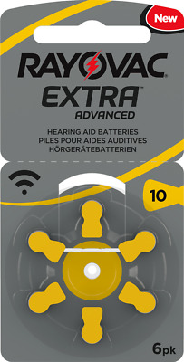 "NEW 2018 - Rayovac Extra ""Active Core"" Hearing Aid Batteries, Size 10 (Yellow)"