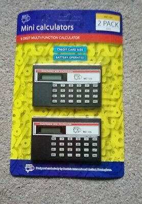 mini credit card size  calculater x2 black