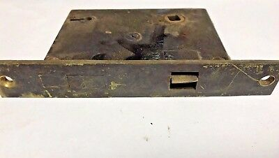 "Antique Brass Mortise Lock- 6-1/4""- Antique- Architectural Salvage"