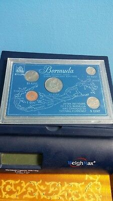 1970 BERMUDA First Decimal Issue D-Day February 6th 1970  - 5 Coins in Case
