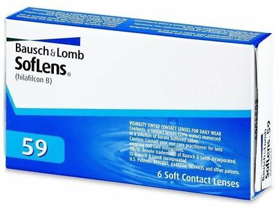 Bausch & Lomb Soflens 59  Dioptrias -7.00  BC: 8.6mm  6 Uds.