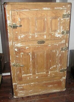 ANTIQUE Wood Belding Hall CENTURY Ice Box for Restoration J0831