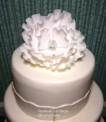 Sugar Flowers Open Peony Cake Toppers For Decoration Wedding Anniversary 13 89 Pic Uk
