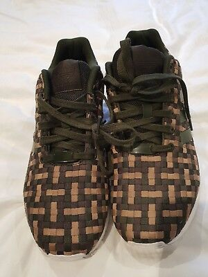 buy online 58389 d7a5b ADIDAS ZX Flux Camouflage green brown camo Textile mens trainers, torsion  S78348